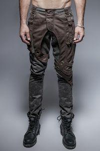 Steampunk Hose mit bronzefarbenen Applikationen   Hosen