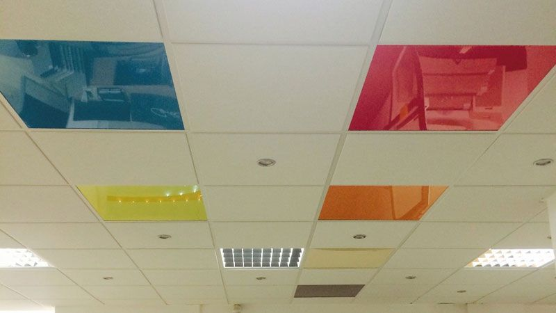 Spanndecken Farben Muster Spanndecken Decke Muster
