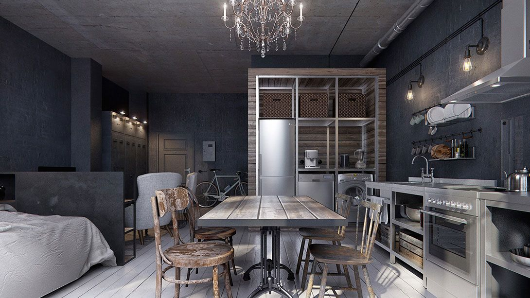 Small Studio Apartment Small Spaces Dining Room Small Dining