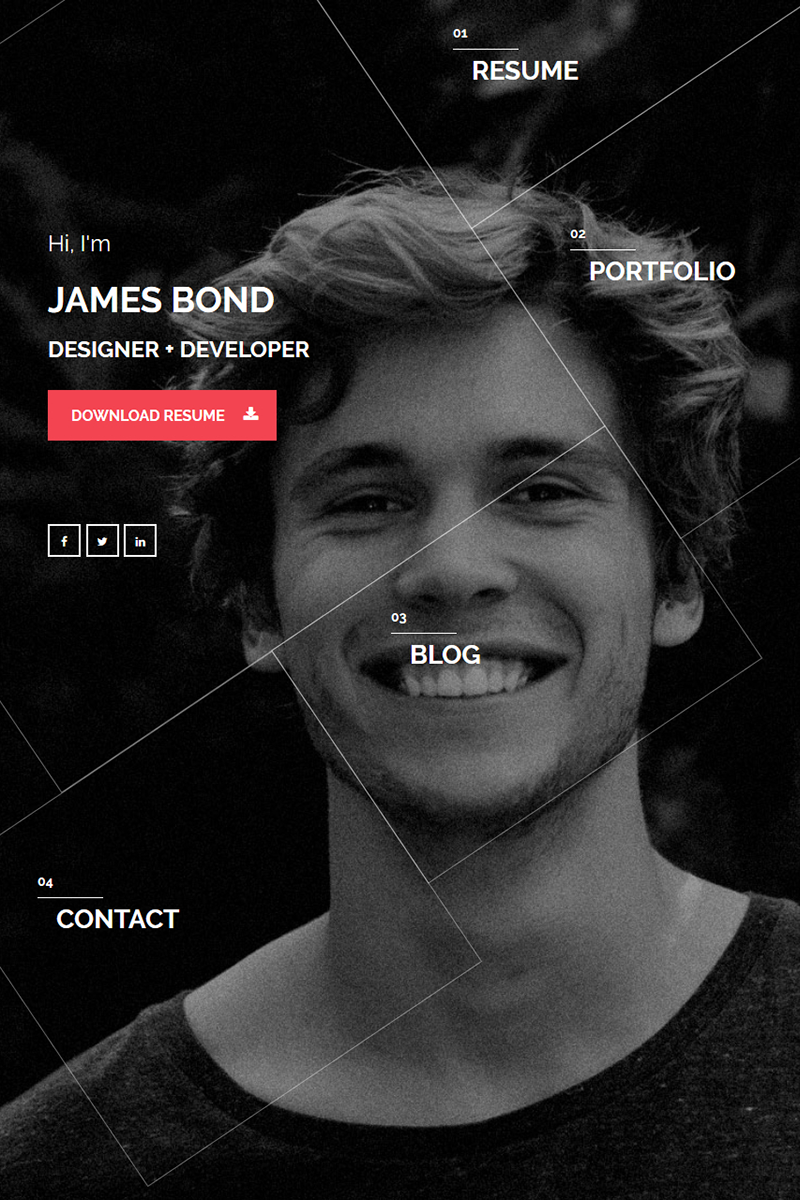 Hello Personal vCard Website Template   Template, Website and ...