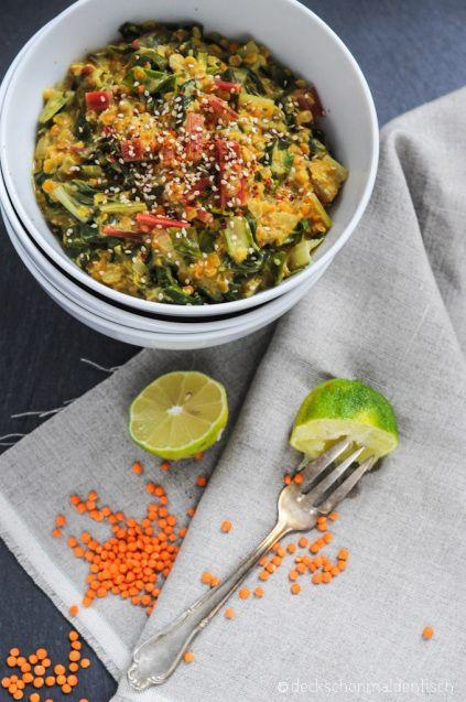 mangold linsen curry oder vegetarischer farbrausch gesundes essen pinterest. Black Bedroom Furniture Sets. Home Design Ideas