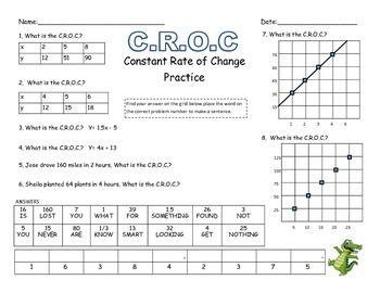 7.4a Constant Rate of Change Practice Sheets-Bundle | A Math Mindset ...