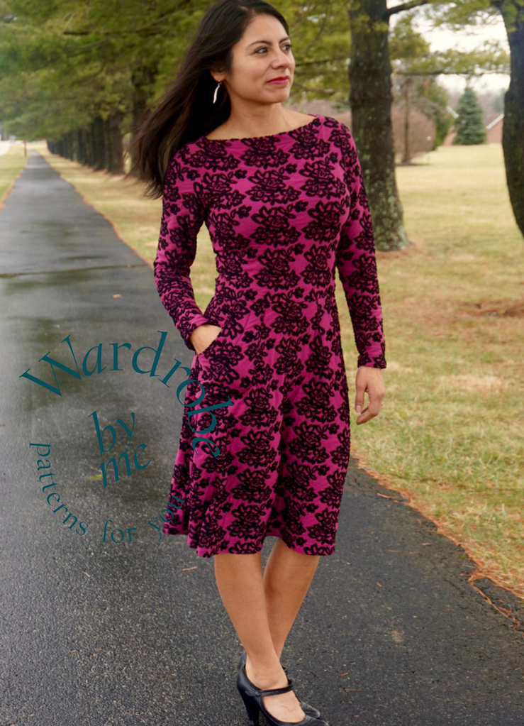Asta Jersey Dress sewing pattern | Pinterest | Schnittmuster und ...