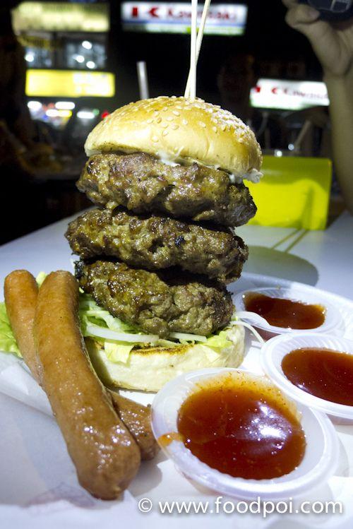 Kaw Kaw Burger at Wangsa Maju, KL, Malaysia.