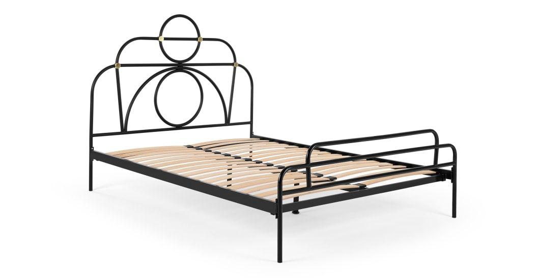 Anthea Metal Double Bed Black Polsterbett Doppelbetten Bett