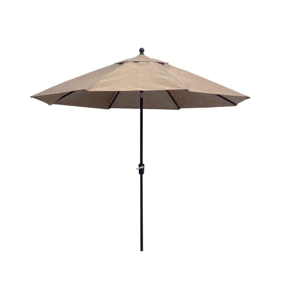 Hampton Bay Westbury 11 Ft. Patio Umbrella In Tan