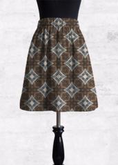 Cupro Skirt - WEIRD PATTERNS SKIRT by VIDA VIDA Discount Official 7Rq4o4MG