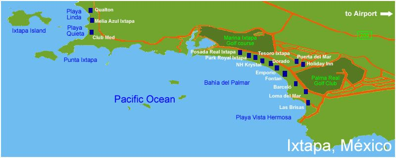 The Ixtapa Best Guide In Guerrero Mexico Area Accomodations