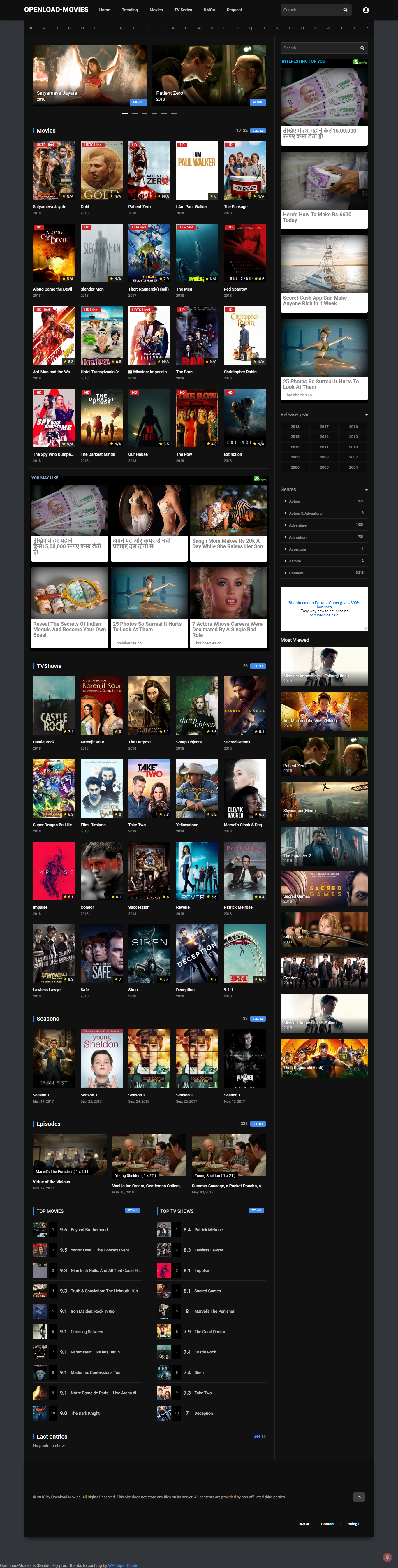 Great Movie Streaming Site.Over 10,000 Movies & Tv Series