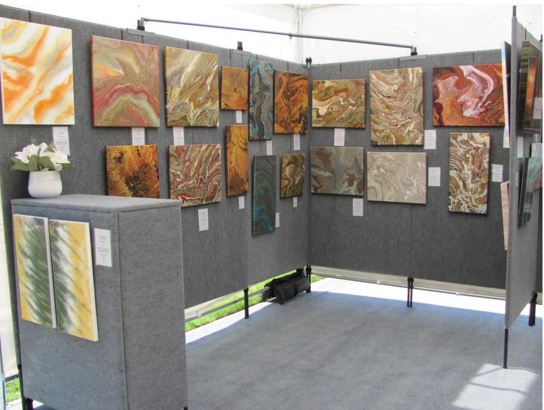 Susan Knowles, Ft. Wayne, IN propanels Art display
