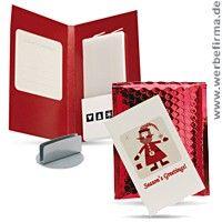 Weihnachtskarte Greenlight für Grüße und Werbeartikel Kerzenständer Weihnachten