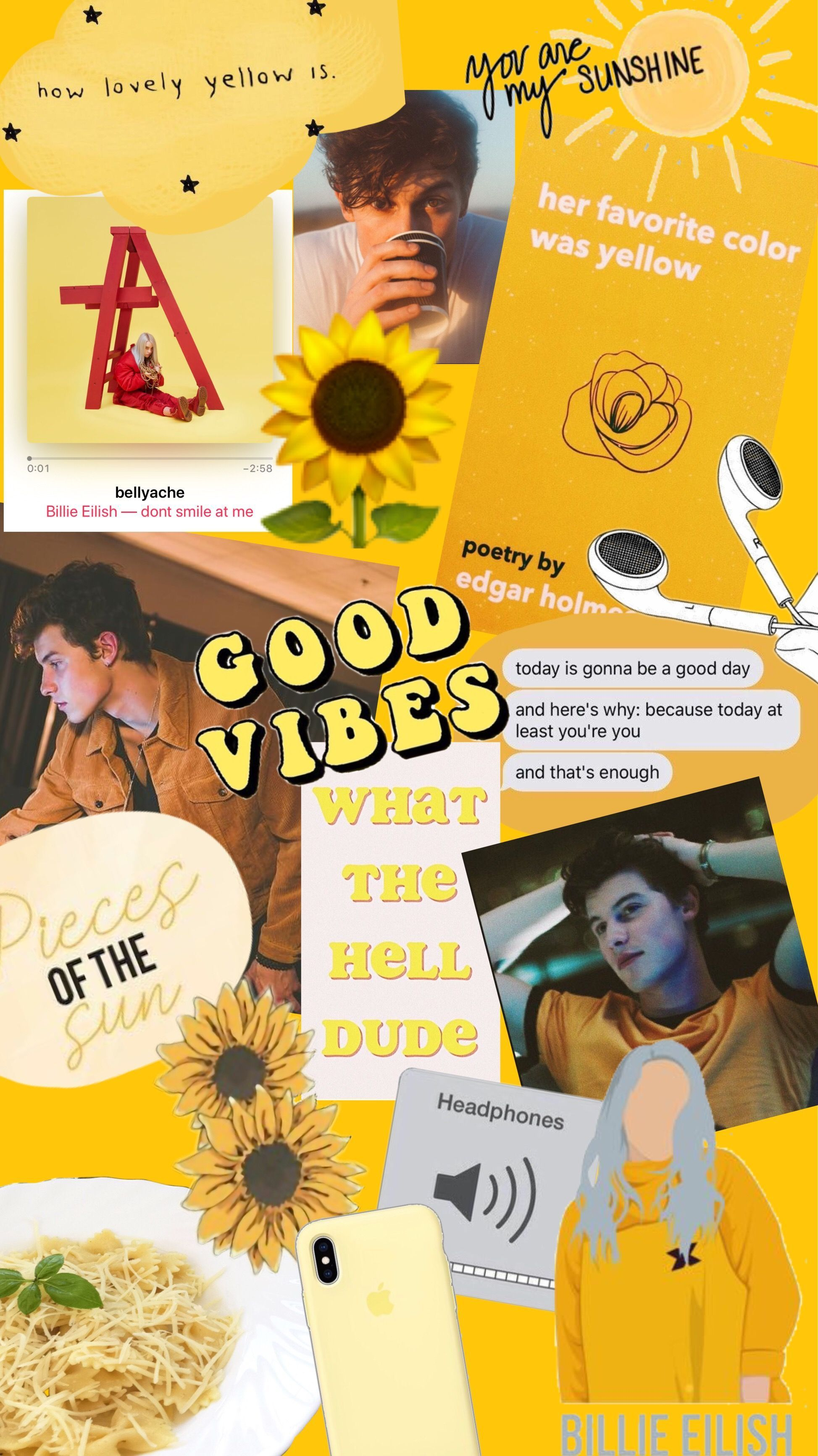 Yellow Collage Wallpaper Iphone Wallpapers Shawn Mendes