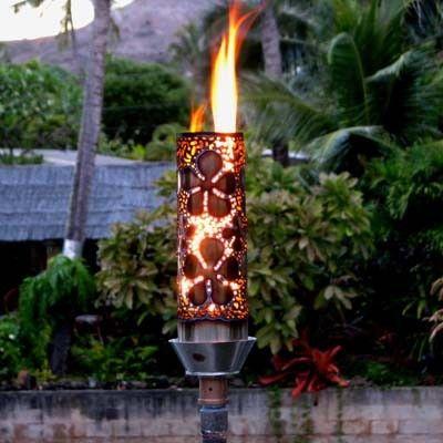 Captivating Pua (Plumeria) Propane Gas Stainless Steel Tiki Torch