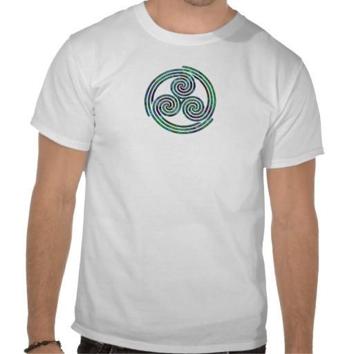 Multi Spiral - T-Shirt -1 #tshirt #triplespiral #pagan #wicca #witchcraft #celtic #celticknot