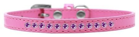 Purple Crystal Size 8 Bright Pink Puppy Collar