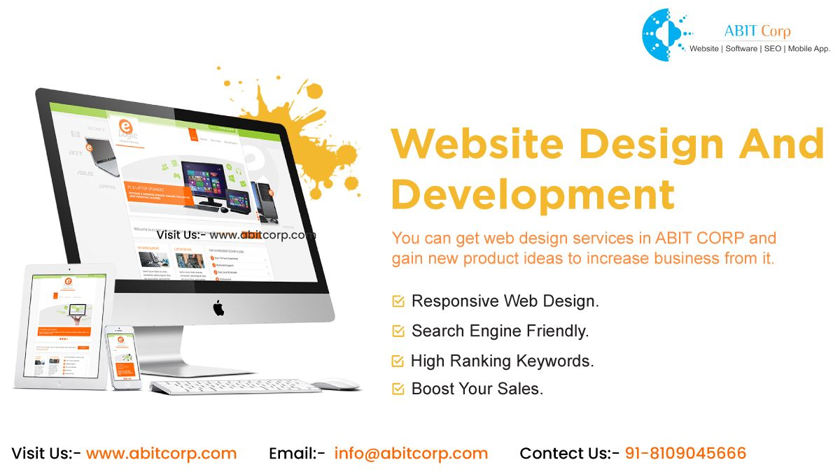 Abit Corp Best Company Based In Indore Which Is The One Stop Destination For Website Designing Providi Website Design Unique Website Responsive Website Design