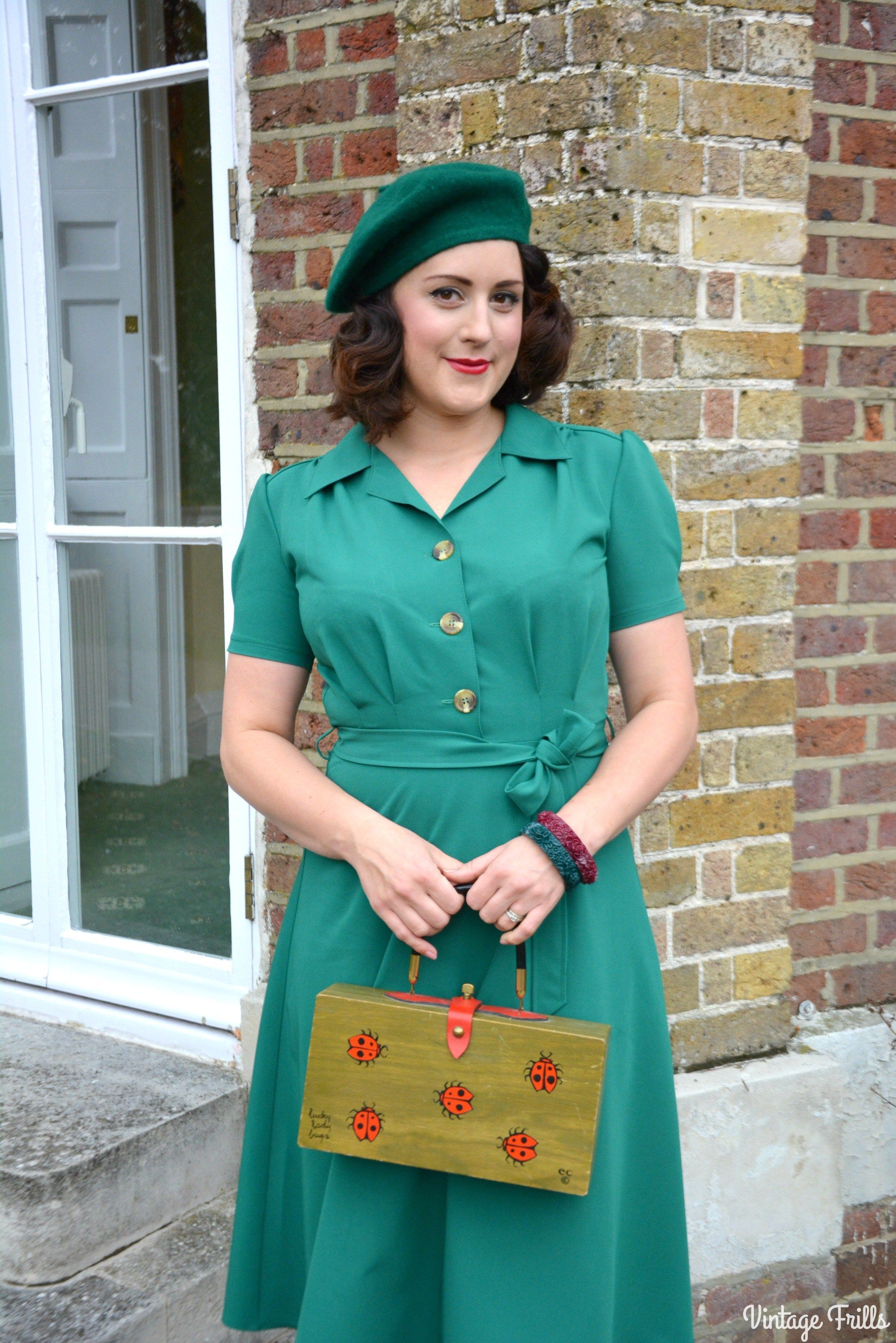 The Essential 1940s Style Blouse Vintage Frills: The Perfect 1940s Style Dress From Pretty Retro OOTD (With