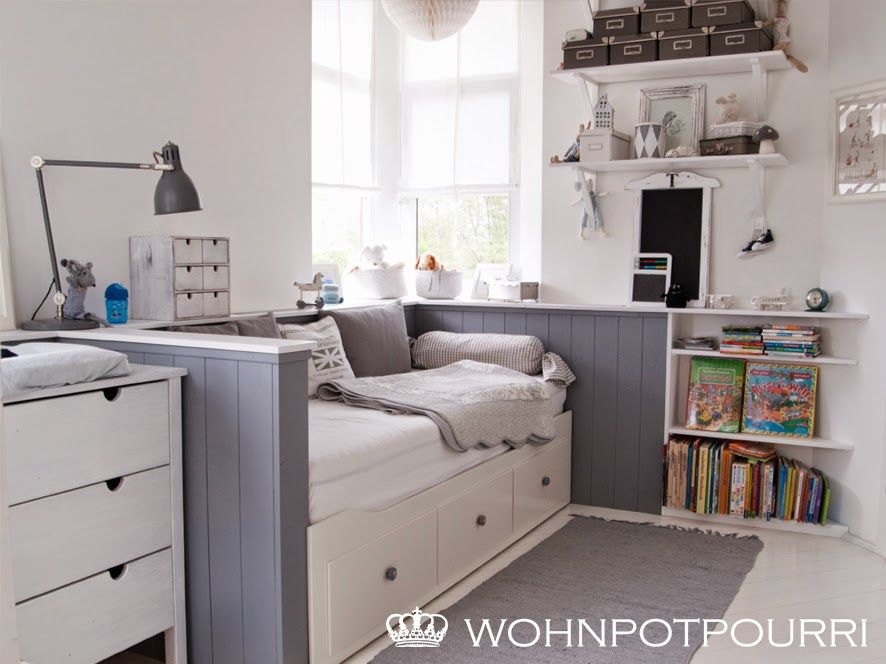 ikea hemnes tagesbett umbau via wohnpotpourri kinderzimmer pinterest ikea hemnes. Black Bedroom Furniture Sets. Home Design Ideas