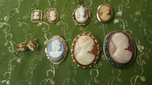 Lot of vintage antique cameo jewelry brooch earrings necklace  https://t.co/fN1LbofrBA https://t.co/hd4OmNHmRk