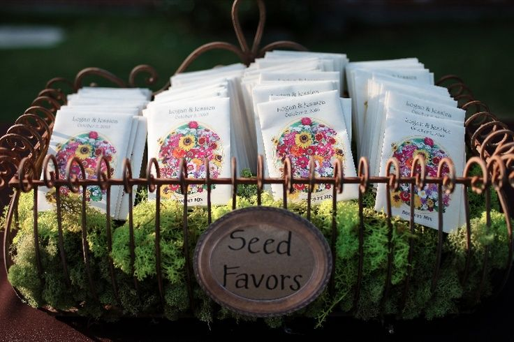 Combine Textures With Seed Packet Display Ideas See More Wedding Favors And Party