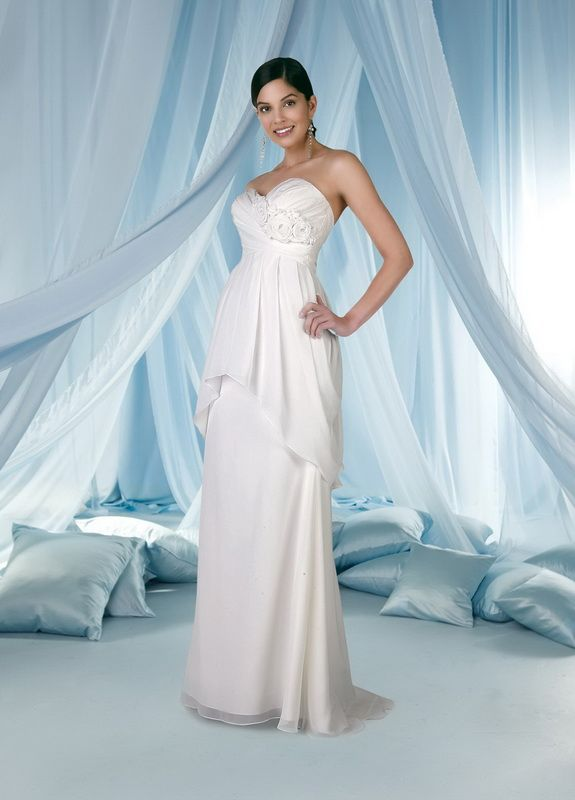 A-Line Sweetheart Neckline Strapless with Empire Waist and ...
