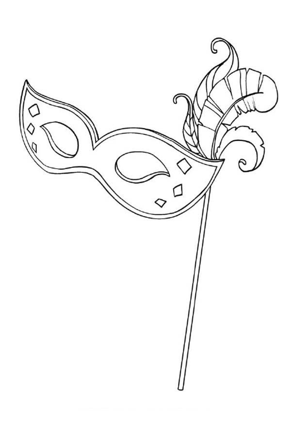 A Typical Mardi Gras Mask for Lady Coloring Page - Download ...