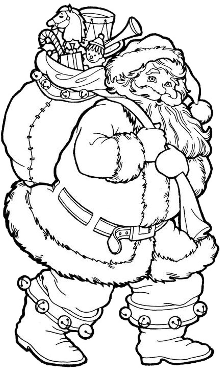Christmas Coloring, Christmas Coloring Pages Printable Santa With ...