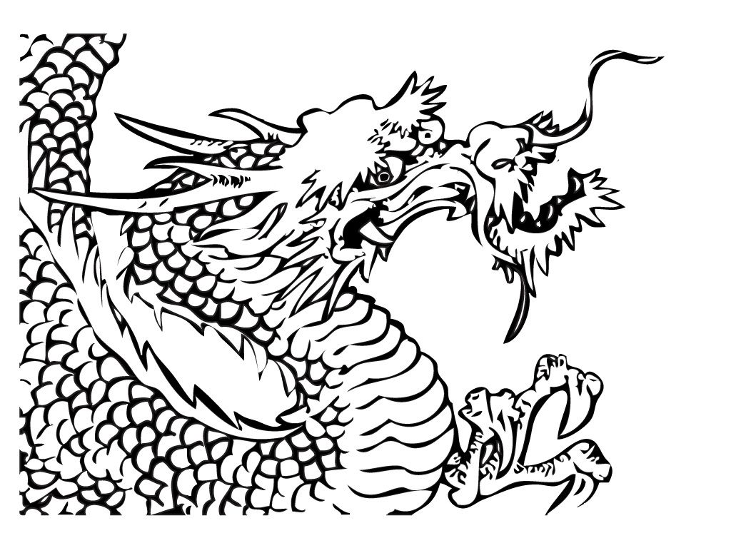 dragon zentangle coloring page chinese calendar colour book and