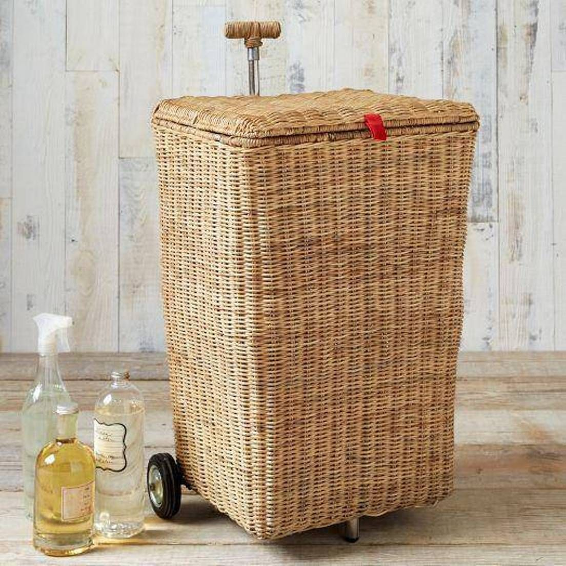 Hamper With Wheels For Easy Moving Linen Laundry Basket On