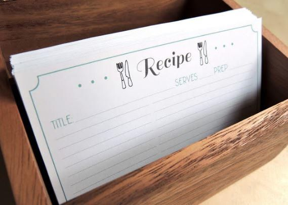 Free printable recipe card template recipe cards free printable use a free printable recipe card template to organize all of your recipes choose from four matching recipe card designs and record all your favorite foods forumfinder Gallery