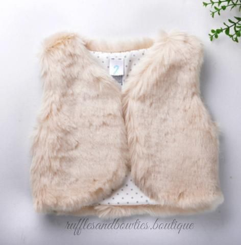 491efbbb1 Pre-Order US ONLY - Baby Girl Boho Faux Fur Cream Fall Vests -The ...