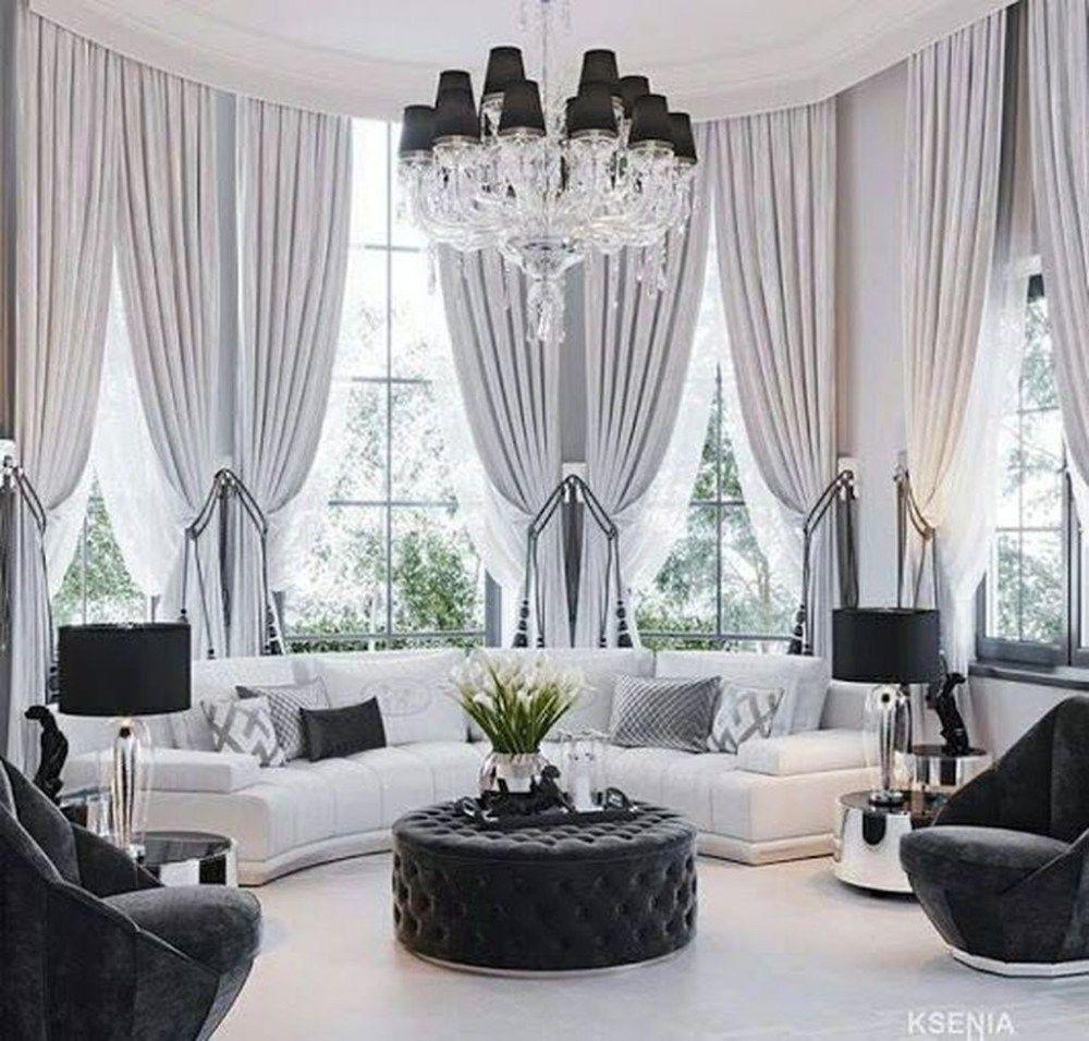 44 Beautiful Home Curtain Ideas For Your Interior Design To Looks Elegant Trendeho Elegant Living Room Decor Minimalist Living Room Decor Elegant Living Room Living room elegant curtains