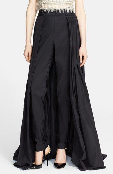 6e6f78936f Naeem Khan Silk Faille Ball Skirt with Attached Cigarette Pants available  at  Nordstrom