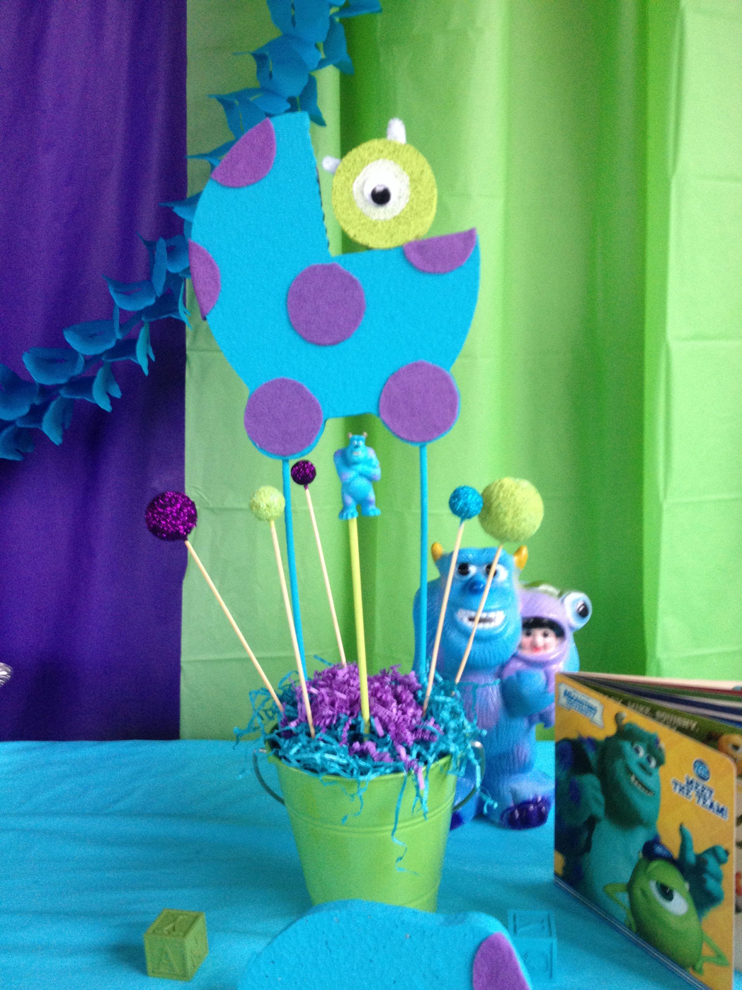 Monsters Inc Baby Shower Centerpiece Pari Decorations