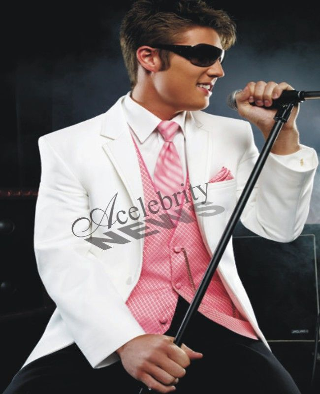 White And Pink Prom Tuxedos | Wedding Tuxedos | Prom Tuxedos ...