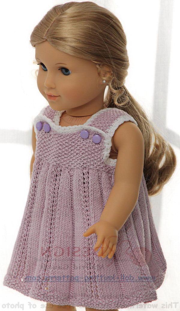 Puppenkleidung stricken - Sommerlich und süß in flieder und weiß ...