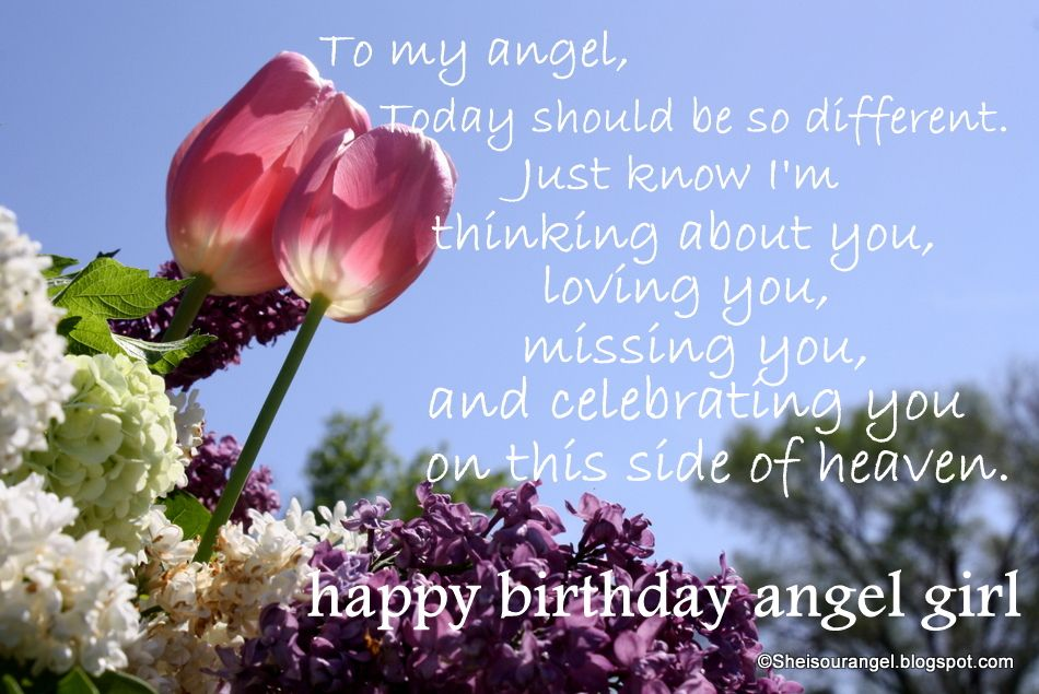 Happy Birthday Wish In Heaven She Is Our Angel Do You Think