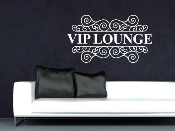 Wandtattoo #Wandaufkleber Wand Deko #Wohnzimmer VIP Lounge Ornament - wohnzimmer deko wand