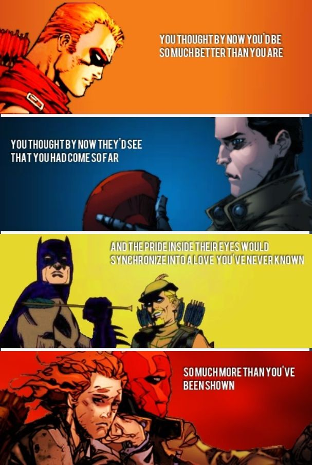 Arsenal and Red Hood can relate