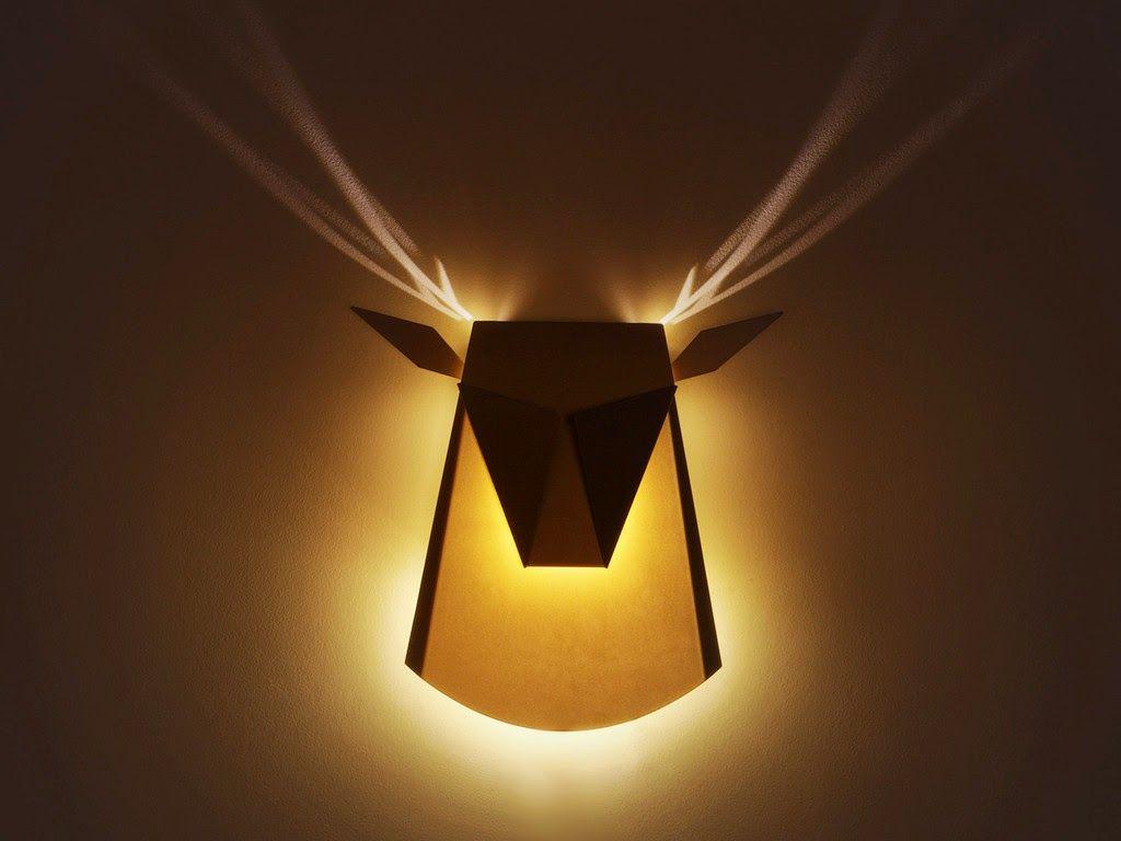 優雅的鹿角燈 點亮時才能看見光影的鹿角喔 像個美麗的藝術品 來自