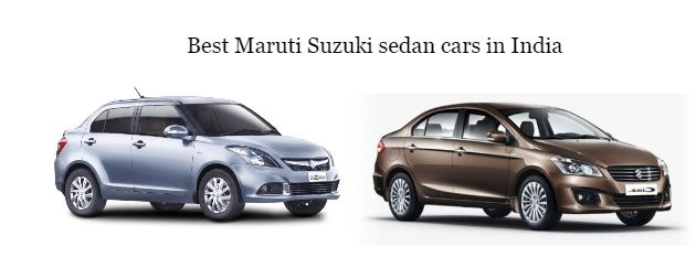 Best And New Maruti Suzuki Sedan Cars In India List