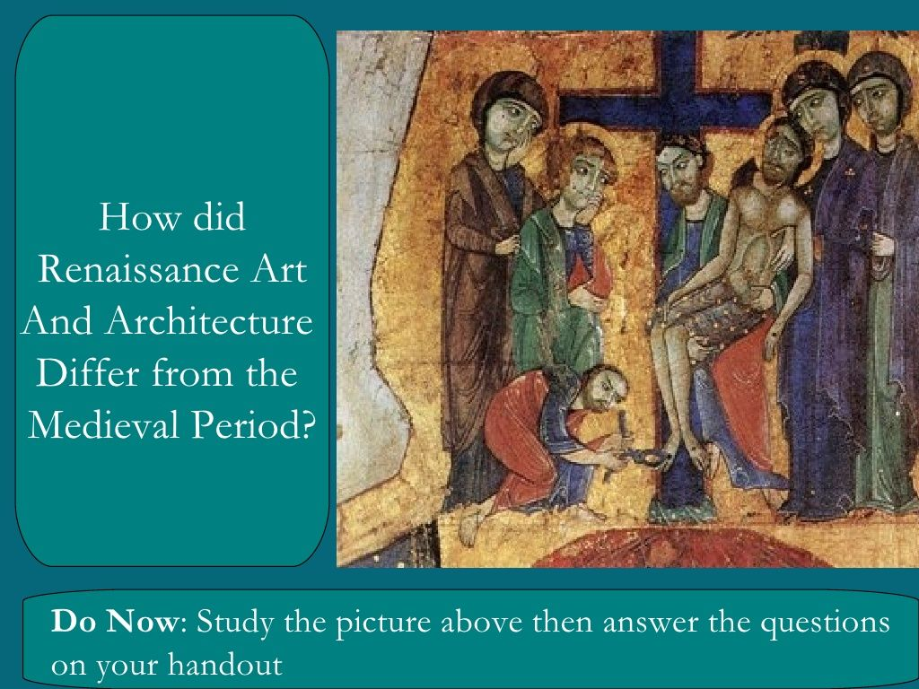 best the renaissance images art work figurative  renaissance vs medieval art lesson cool powerpoint by greg sill via slideshare