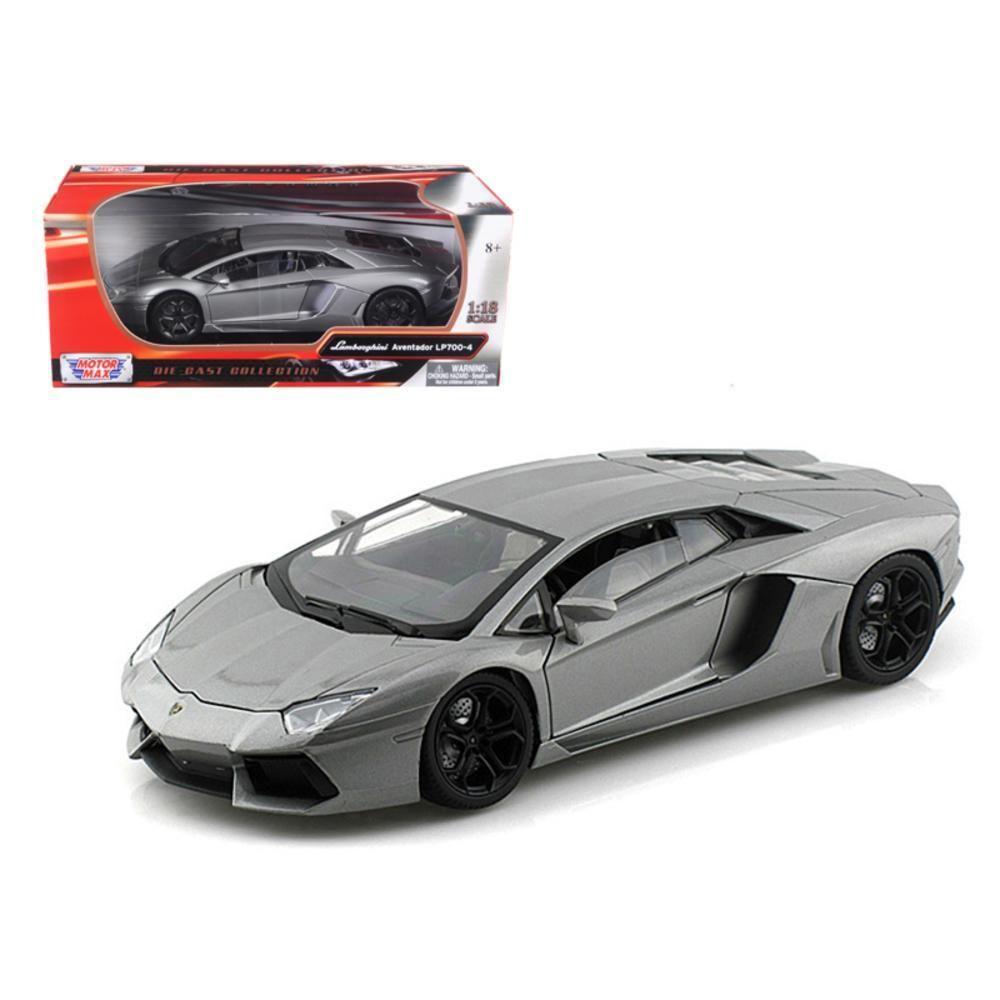 Perfect Lamborghini Aventador LP700 4 Grey 1 18 Diecast Car Model By Motormax