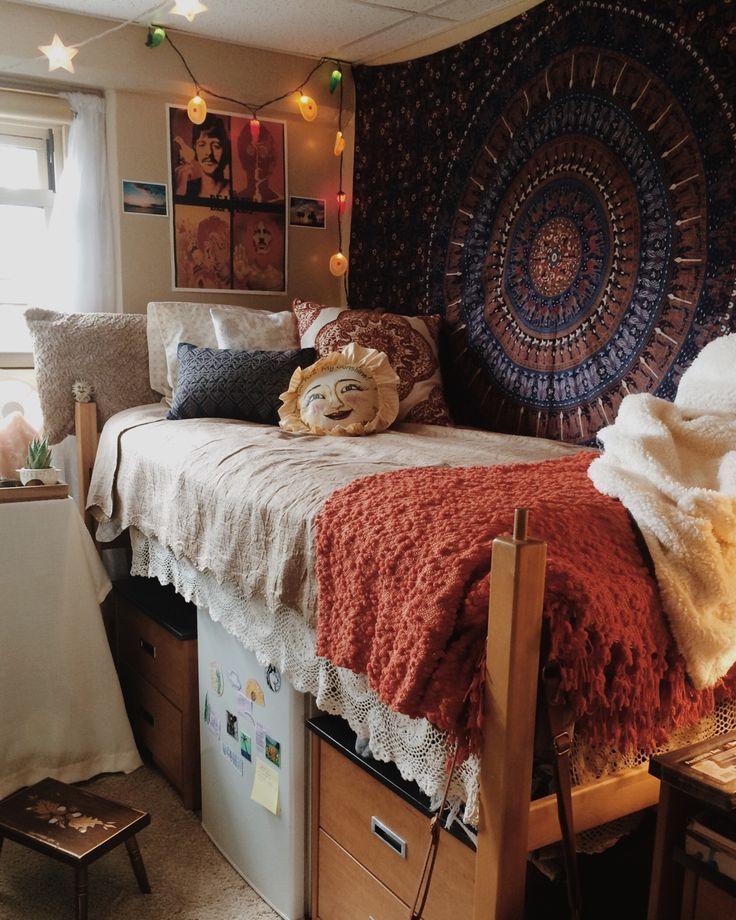 Hippie Chic Dorm Room Cool Dorm Rooms Dorm Room Decor Dorm