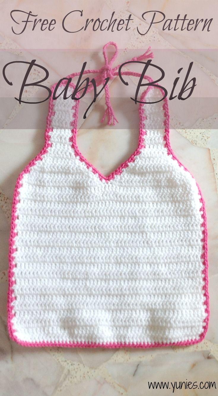 Free Crochet Pattern Baby Bib Crochet Pinterest Crochet