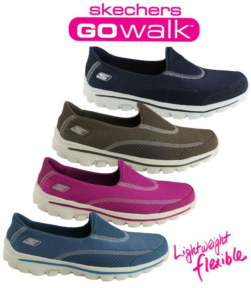 Skechers womens go walk 2 comfortable lightweight casual