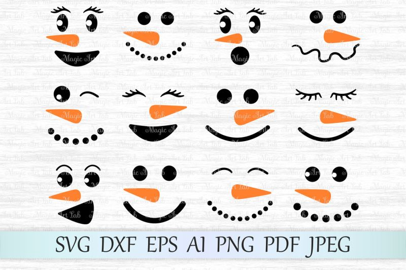 Free Snowman Svg Snowman Faces Svg Christmas Svg Happy New Year Svg Crafter File Snowman Faces Printable Snowman Faces Christmas Svg