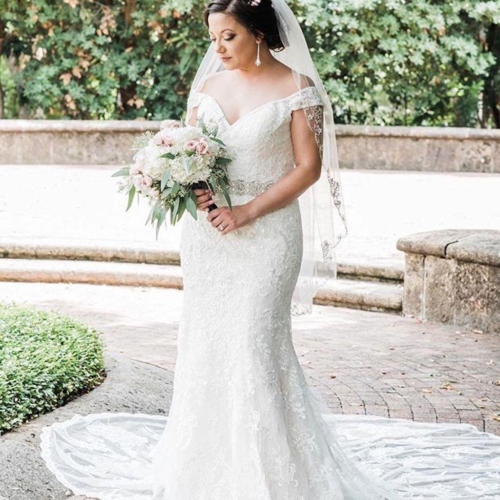 Beaded Lace Off The Shoulder Mermaid Wedding Dress Wedding