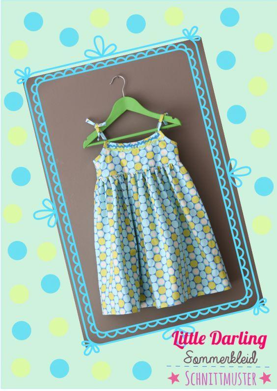 Kostenloses Schnittmuster für ein Sommerkleid 98-104 | Nähen ...