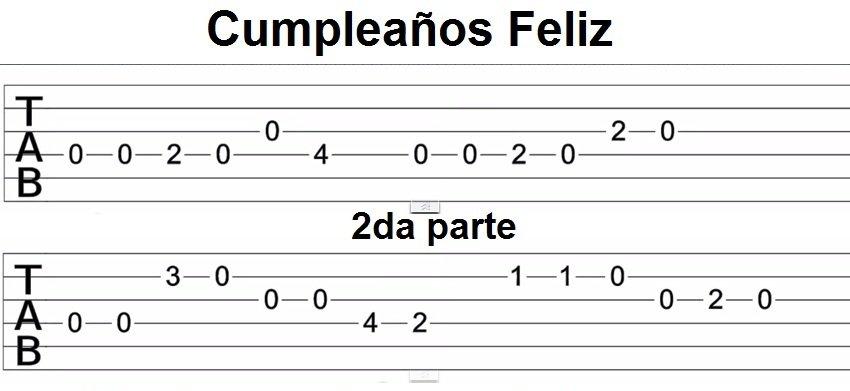 Tab Feliz Cumpleaños Buscar Con Google Feliz Cumpleaños Feliz Clases De Guitarra
